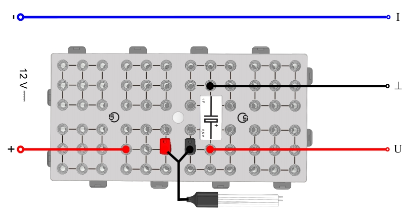 Laden eines Kondensators - Digital