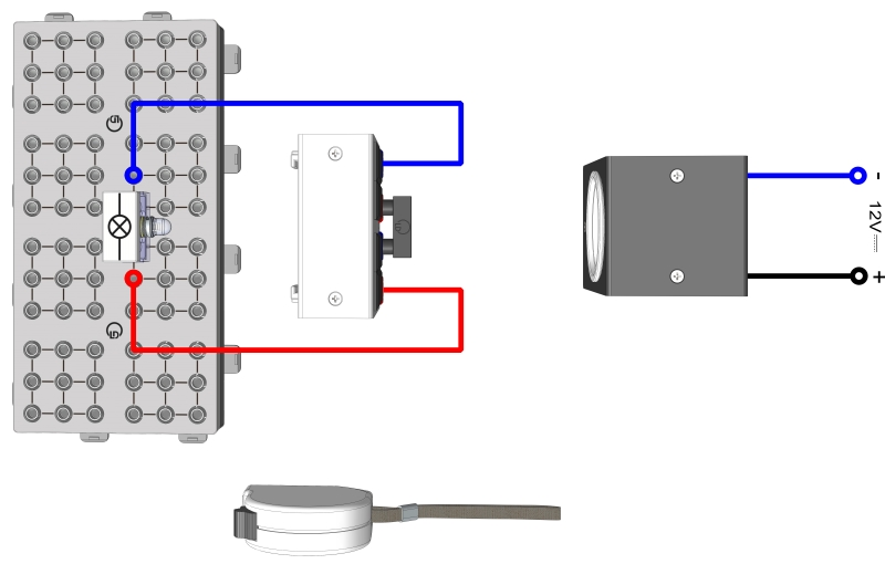 Betreiben einer Lampe durch ein Solarmodul