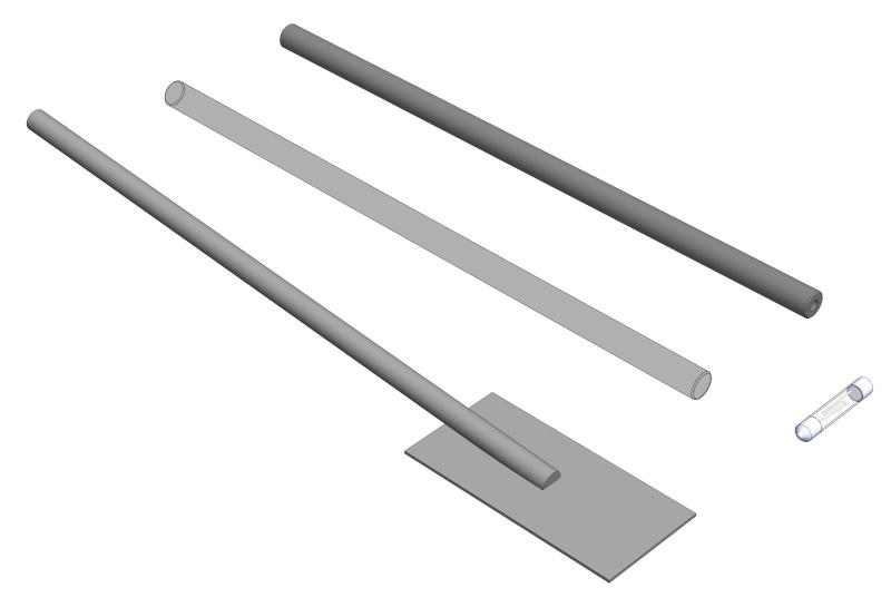 Nachweis von Ladungsarten an Folien und Platten mit einer Glimmlampe