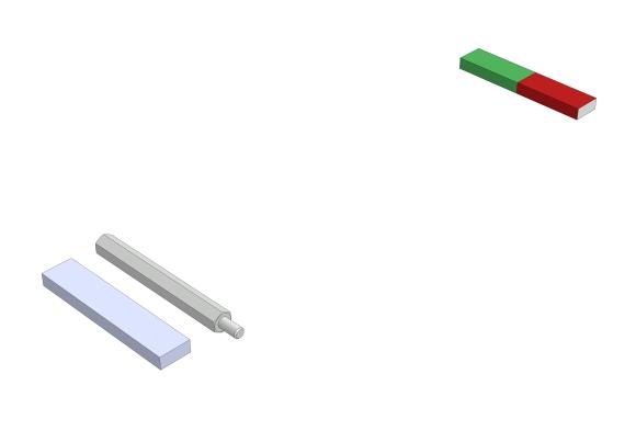 Lage der Magnetpole bei einem Stabmagneten