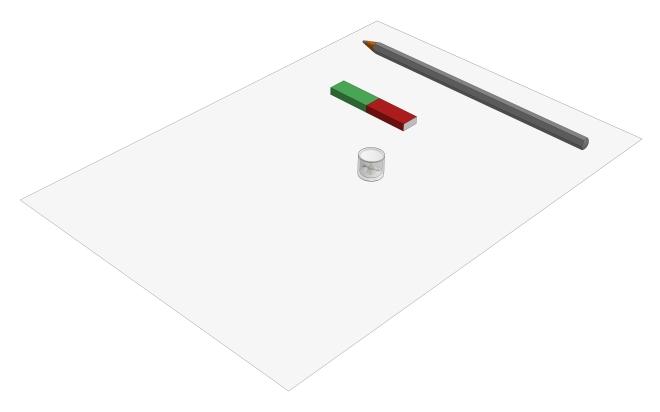 Feldlinienbild eines Stabmagneten