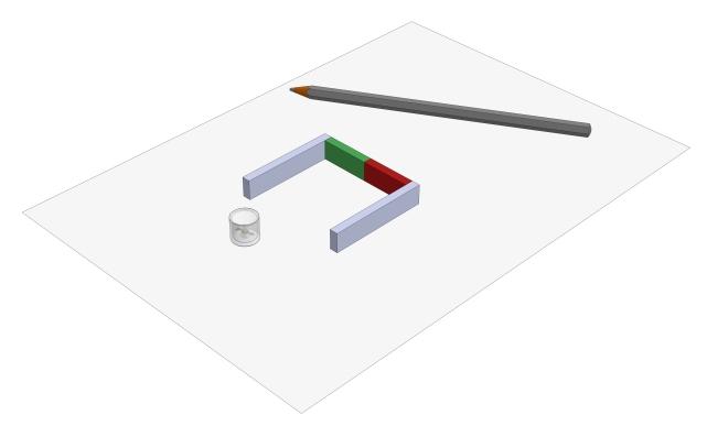 Feldlinienbild eines Hufeisenmagneten