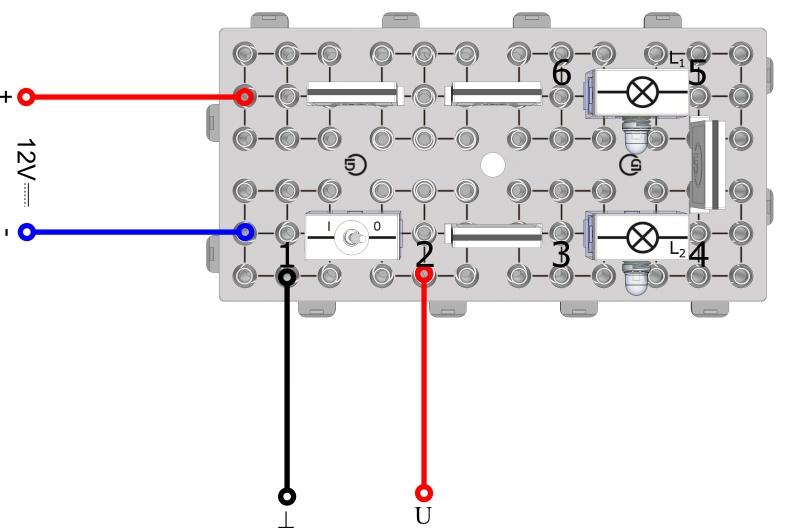 Messung der Spannung im einfachen Stromkreis - Digital