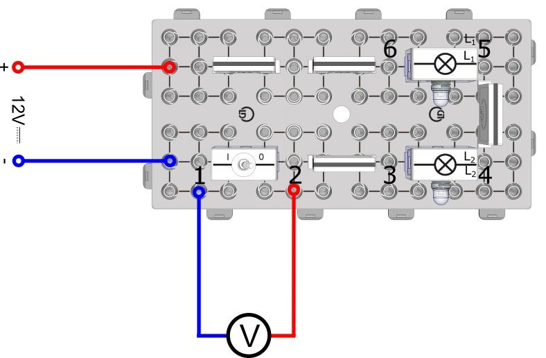 Messung der Spannung im einfachen Stromkreis
