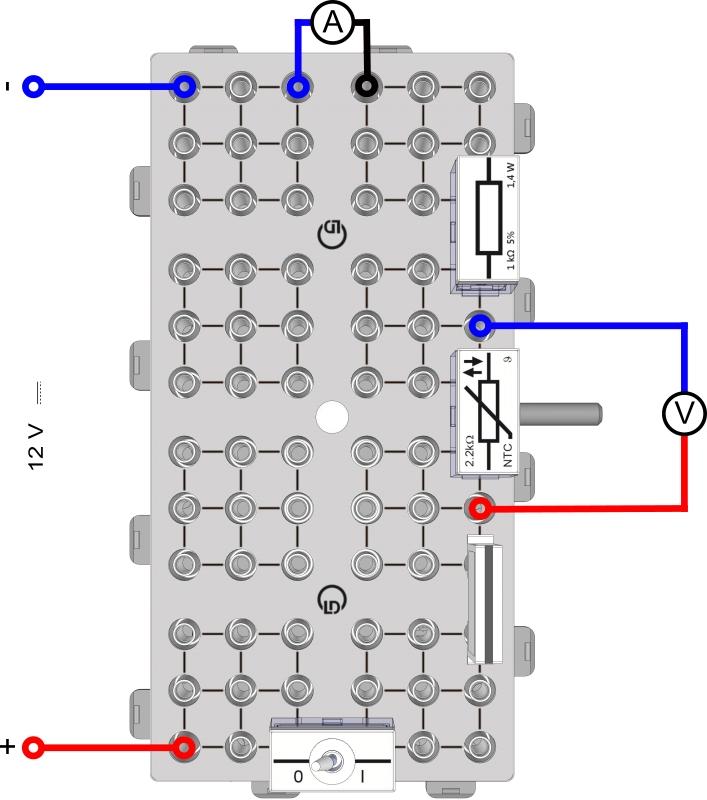 Temperaturabhängigkeit Widerstand NTC