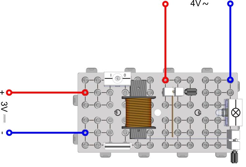 Modell eines Magnetrelais