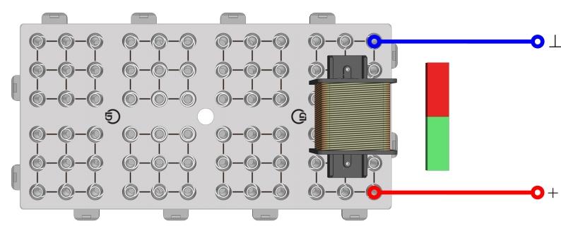 Elektromagnetische Induktion mit Stabmagnet und Spule