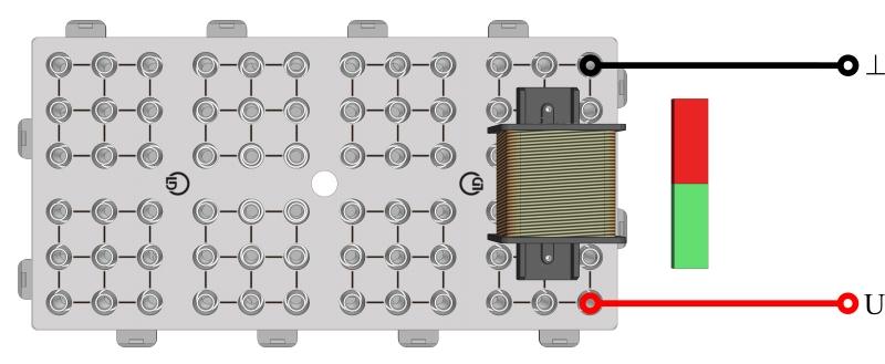Elektromagnetische Induktion mit Stabmagnet und Spule - Digital