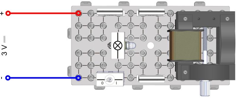 Selbstinduktion einer Spule (Modell eines Funkeninduktors)