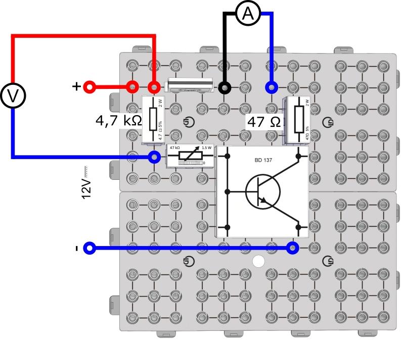 Die Stromverstärkung des Transistors