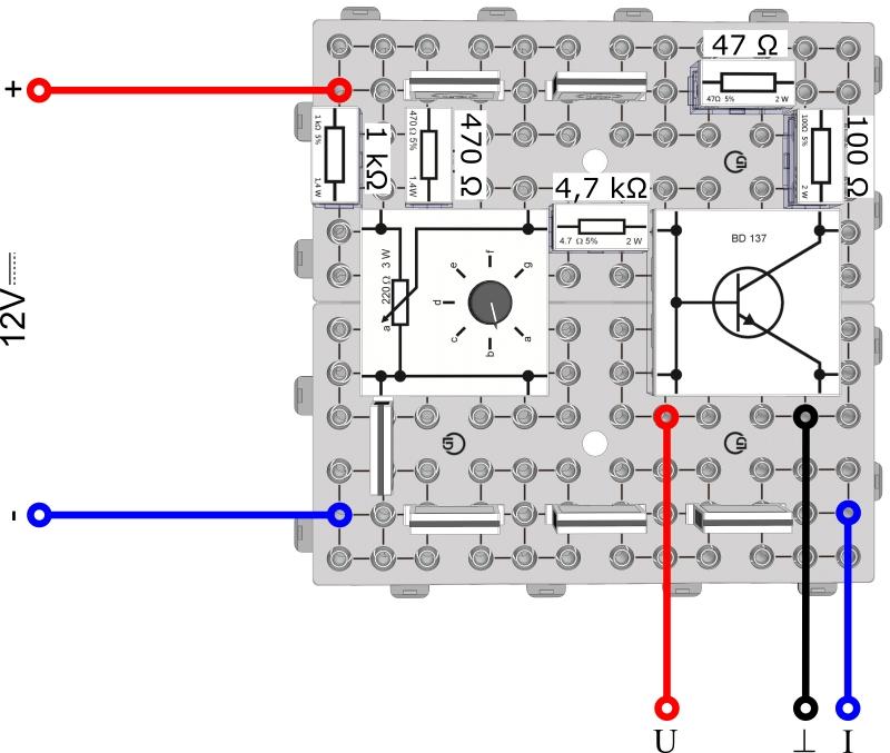 Die Spannungsverstärkung des Transistors - Digital