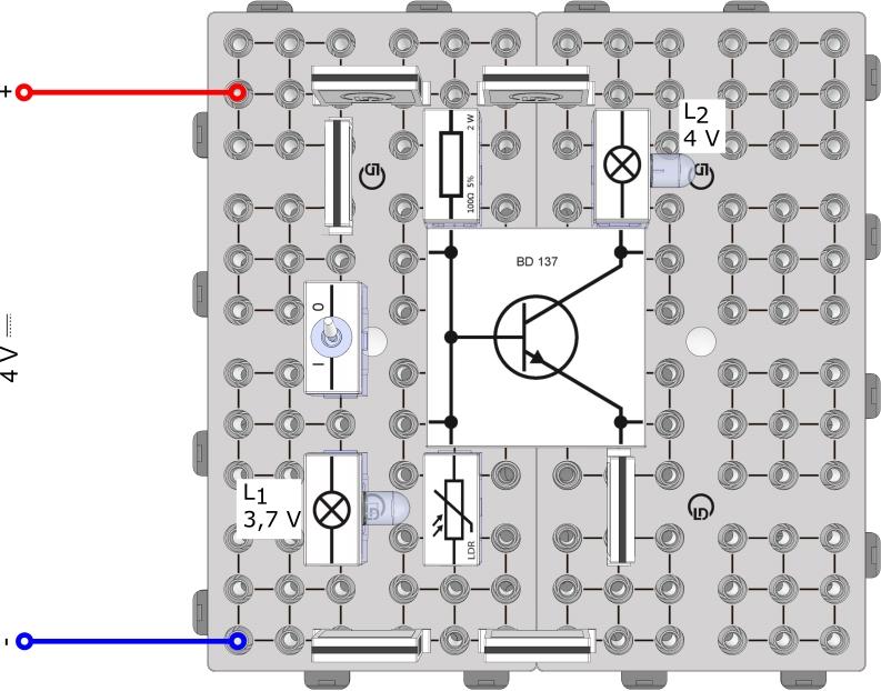 Lichtgesteuerter Transistor I, Lichtschranke