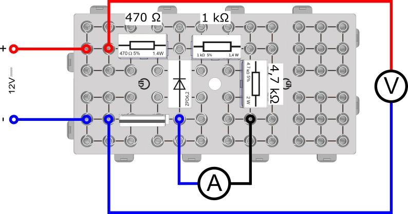 Spannungsbegrenzung durch Dioden und Transistoren