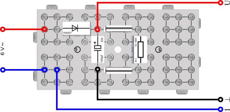 Glätten pulsierender Gleichspannungen mit Kondensatoren - Digital