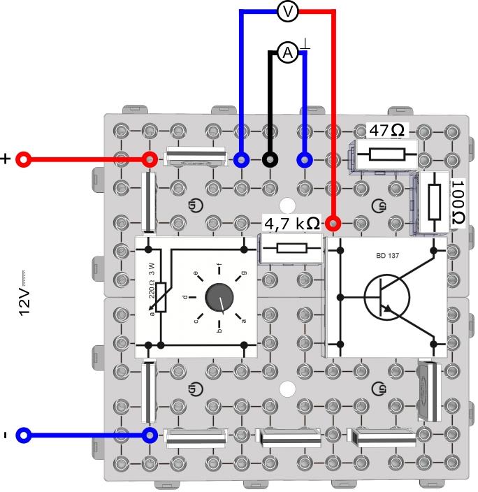 Grundversuch zu Kippstufen - Transistor als Schalter