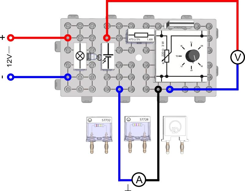 Ausgangs- und Leistungskennlinie einer Solarzelle - Digital