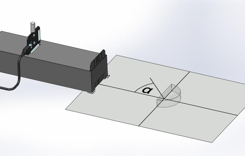 Brechung in verschiedenen Medien an Halbkreistrog und Halbkreiskörper