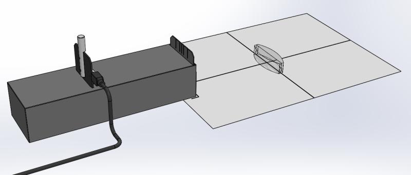 Konstruktionsstrahlen an einer Konvexlinse