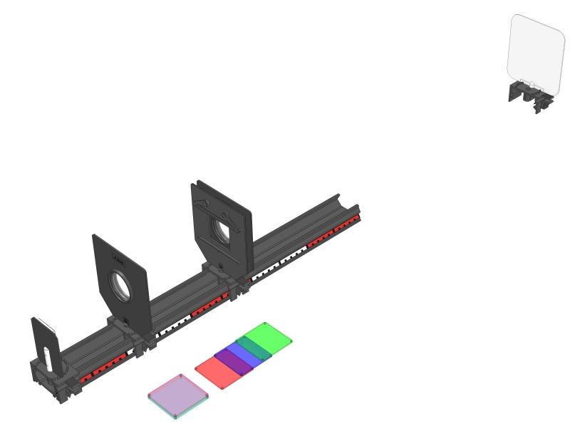Additive Mischung von zwei Lichtfarben