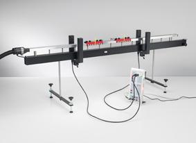 Energie und Impuls beim elastischen und inelastischen Stoß auf der Luftkissenfahrbahn - Messung mit zwei Gabellichtschranken und CASSY
