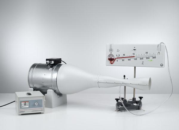 Statischer Druck und Bestimmung des Volumenstroms mit einem Venturi-Rohr - Druckmessung mit dem Feinmanometer