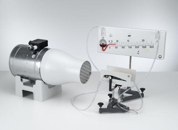Druckverlauf an einem Tragflächenprofil - Druckmessung mit dem Feinmanometer