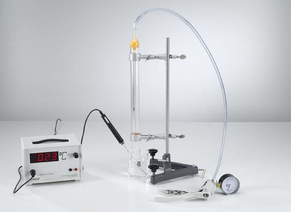 Temperaturabhängigkeit des Gasvolumens bei konstantem Druck (Gesetz  Gay-Lussac)