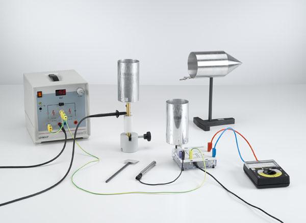 Untersuchung der Ladungsverteilung auf der Oberfläche elektrischer Leiter