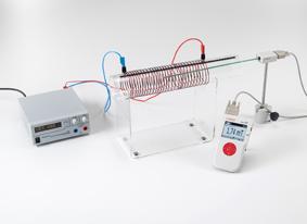 Magnetfeldmessung an einer Luftspule