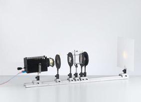 Aufbau eines Halbschatten-Polarimeters mit diskreten Elementen