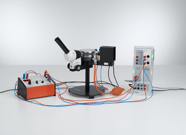 Bestimmung der elektrischen Elementarladung nach Millikan und Nachweis der Ladungsquantelung - Messung von Steig- und Sinkgeschwindigkeit mit CASSY