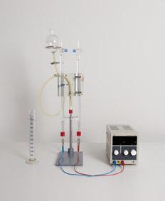 Elektrolytische Wasserzersetzung nach Hoffman mit Stativmaterial