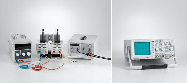 Kernspinresonanz (NMR) an Wasser, Polystyrol, Glycerin und Teflon