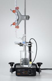 Elektrolytische Dissoziation mit Stativmaterial