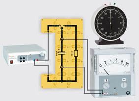 Entladekurve eines Kondensators - Aufbau mit Leiterbausteinen