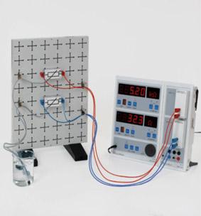 Temperaturabhängige Widerstände - Aufbau mit Steckplatte