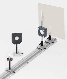 Kurzsichtigkeit - Aufbau des Auges mit Linsenmodell und Schirm